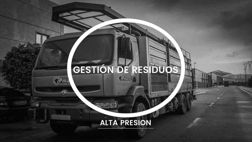 Recogida de gestion de residuos con camión cisterna