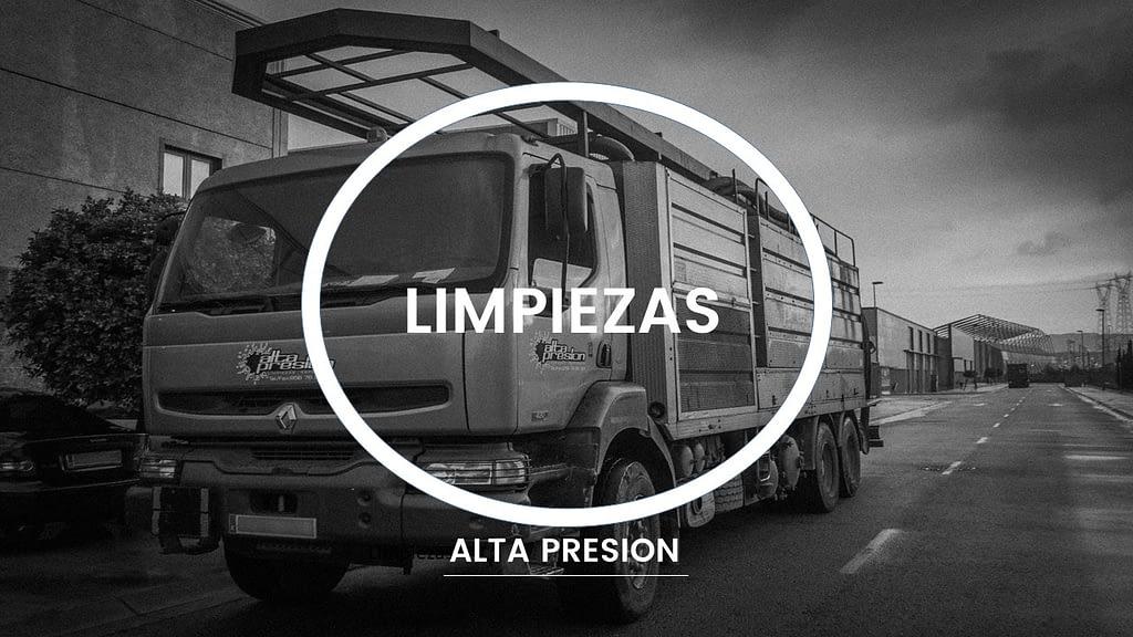 Limpieza con a presión y aspiracion - camión cisterna